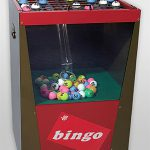 Bingo machine-met-blower