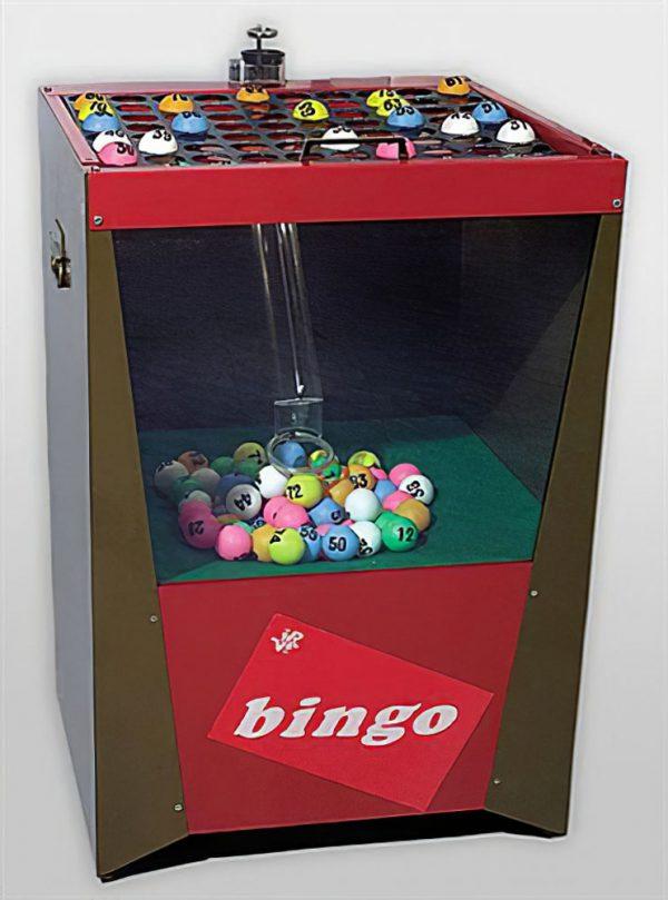 Bingo machine-met-blower