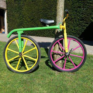 Gekke fiets kermisattractie