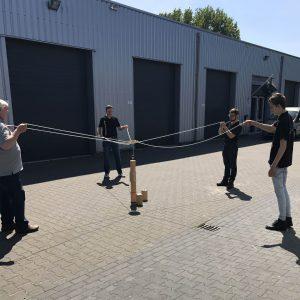 blokken gezelschapsspel teambuilding