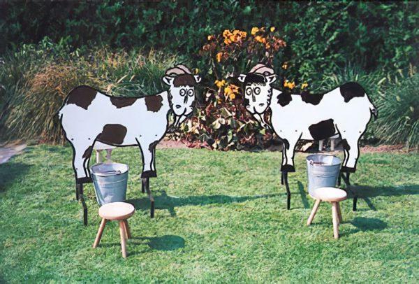 geiten-melken koeien
