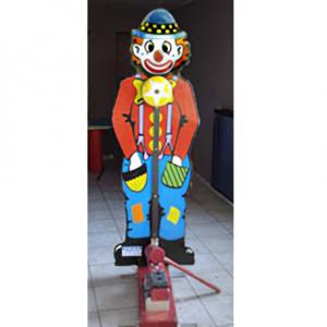 Kinder kop van jut-clown